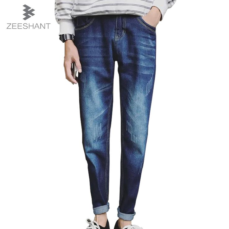 >> Click to Buy << ZEESHANT 2017 Mens Slim Fit Ripped Jeans for men Jeans with Holes Summer Denim Cotton Harem Female Male Jeans in Men's Jeans #Affiliate