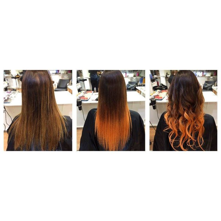 Before and after / Copper Ombre