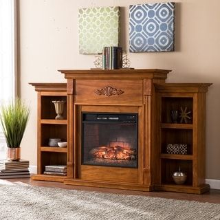 Shop for Harper Blvd Tomlin Glazed Pine Bookcase Infrared Fireplace. Get free delivery at Overstock.com - Your Online Home Decor Outlet Store! Get 5% in rewards with Club O! - 18715597