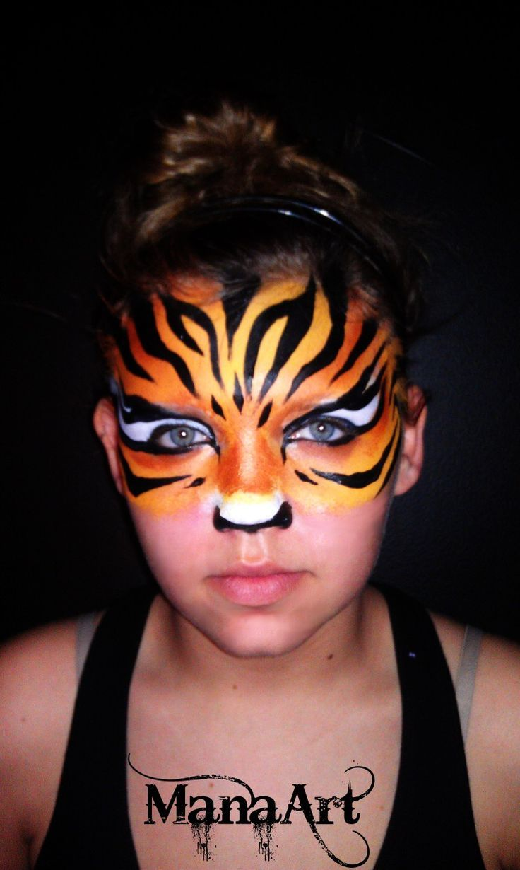how to make a tiger face mask