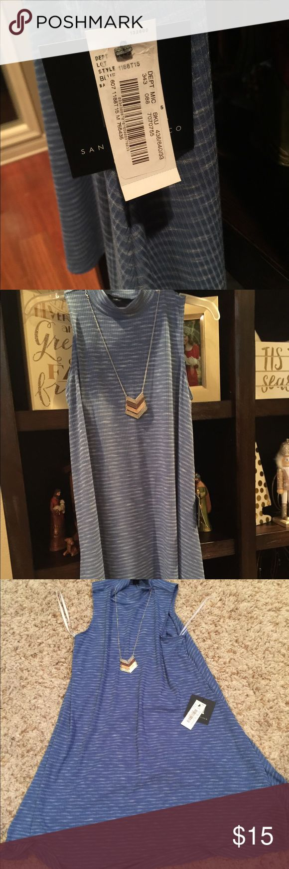 Sleeveless high neck dress Classy sleeveless dress with necklace attached. Never worn, brand new! Smoke free home. dillards Dresses Midi