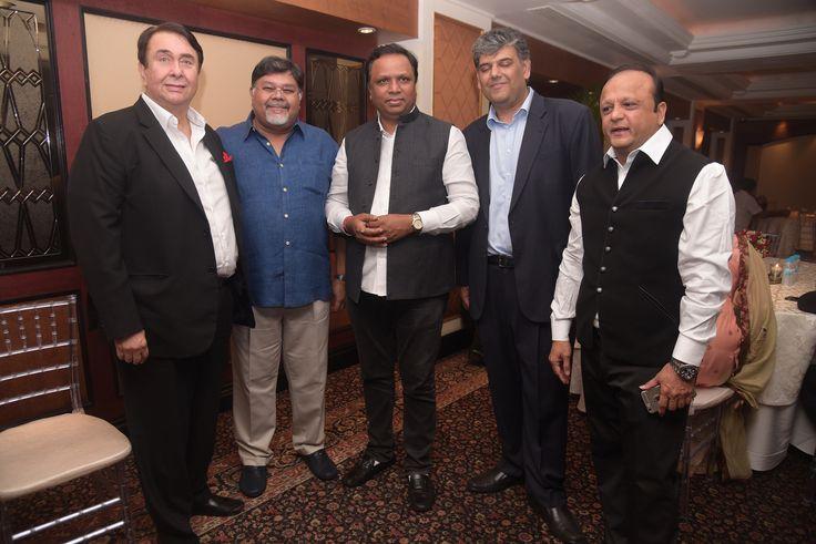 Randhir Kapoor, Vivek Goenka, Ashish Shelar, Karan Bhagat and Asif Bhamla at the 20th anniversary celebrations of Bhamla Foundation