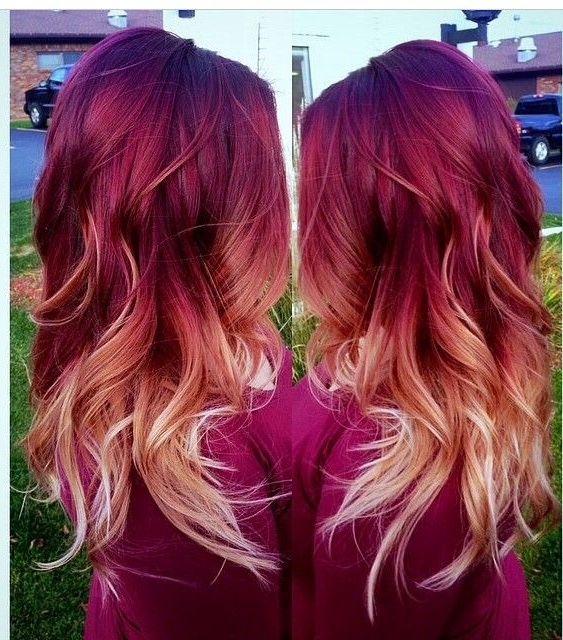 Die besten 25 elumen haarfarbe ideen auf pinterest - Ombre hair haarfarbe ...