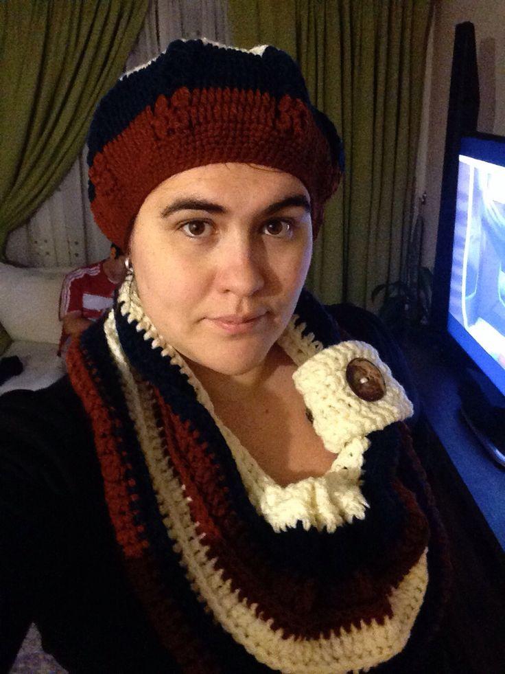 Crochet: Una boina y cuello para mi / Crochet: A beret and cowl for me