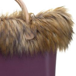 Murmasky Faux Fur Trim - Natural - O Bag Accessory. A finishing touch for the standard O bags. Fixes inside to the ends of the handles. NOTE: Not real fur.
