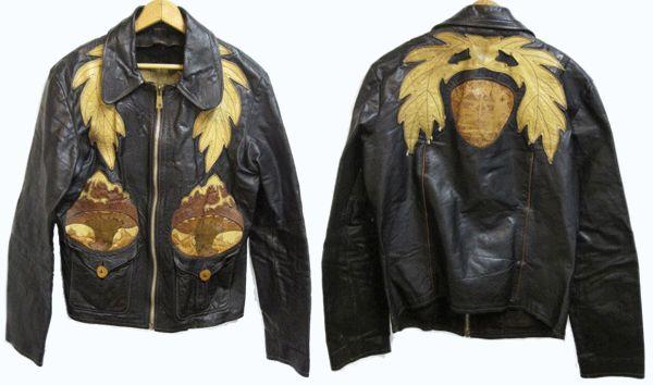 Vintage East West Musical Instruments Leather Jacket