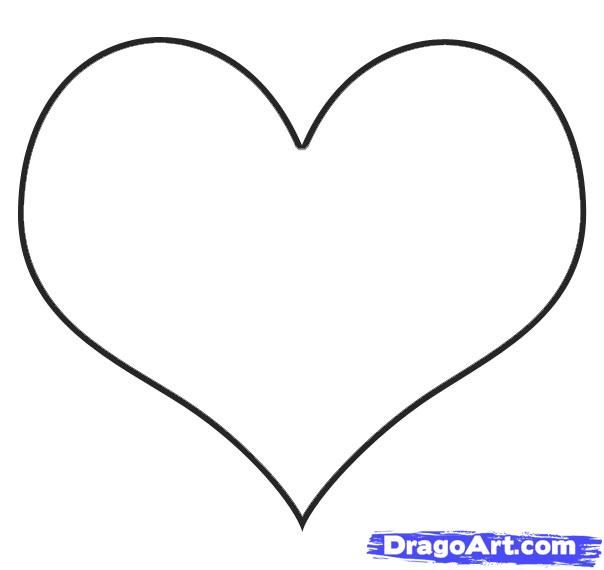 easy heart | How to Draw an Easy Heart, Step by Step ...