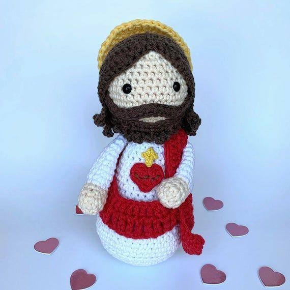 Sagrado Corazon De Jesus Sacred Heart Amigurumi Amigurumi De