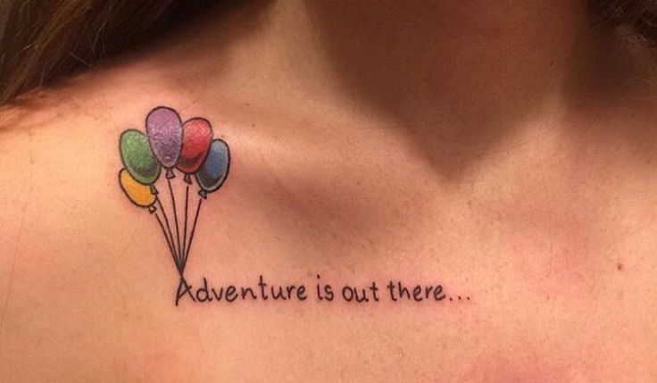 Adventure is out there Disney tattoo based on the Pixar movie UP and the ballo … – Never tell me