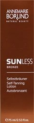 Sunless Bronze Self Tanning Lotion - 2.5 oz - Lotion by Annemarie Borlind. $17.49. Based on nature. Self-tanning lotion from Annemarie Borlind. Delivers a natural bronzed look to skin. Sunless Bronze Self Tanning Lotion by Annemarie Borlind 2.5 oz Lotion Sunless Bronze Self Tanning Lotion The Safest Tan - Sunless Bronze A caring self-tanning produce for use on face and body Produces a wonderfully natural tan without sun rays based on nature Is applied quickly s...