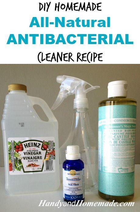 DIY Homemade All-Natural Antibacterial Cleaner Recipe | Handy & Homemade