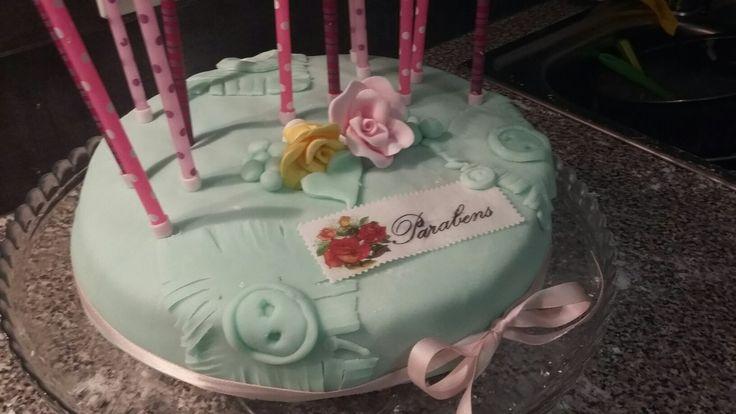 Bottons birthday  cake
