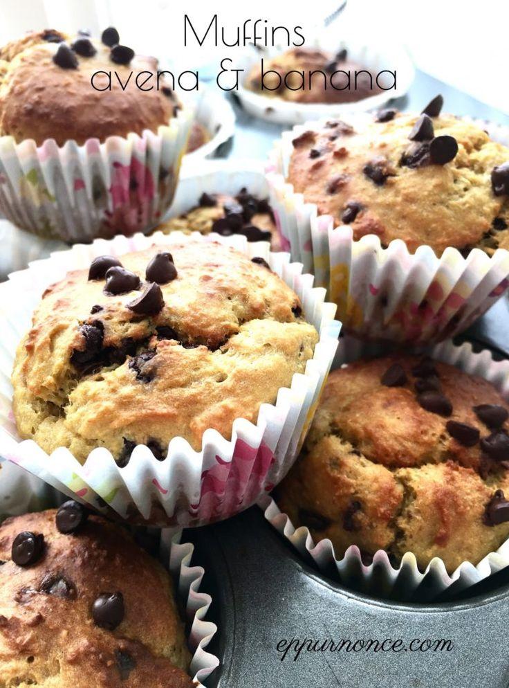 Muffins avena e banana senza glutine   EPPUR NON C'E'