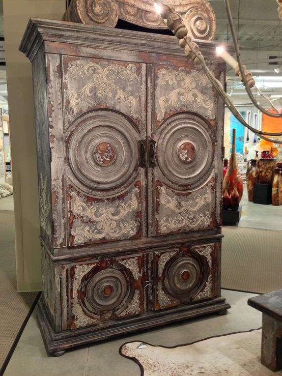 Spanish Colonial Armoire, Spanish Style Armoire, Peruvian Painted Furniture,  Peruvian Armoire, Peruvian