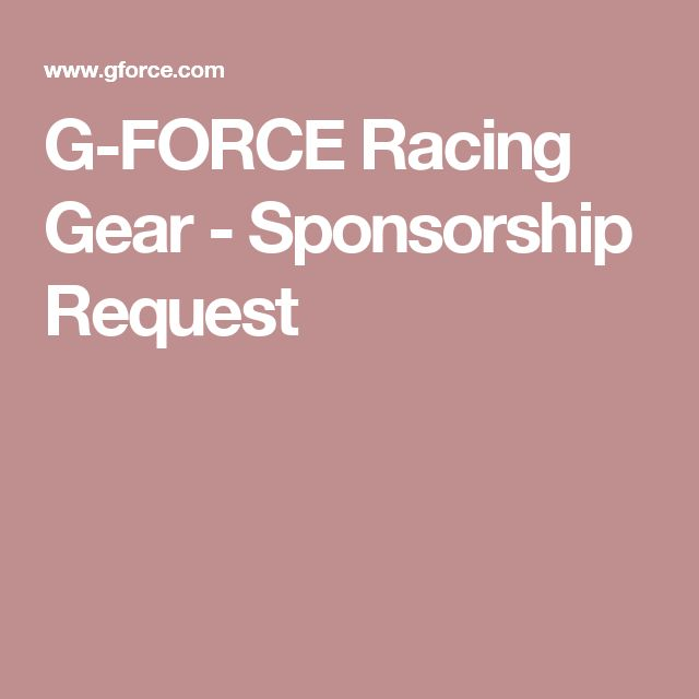 G-FORCE Racing Gear - Sponsorship Request Racing Pinterest - free racing sponsorship proposal template