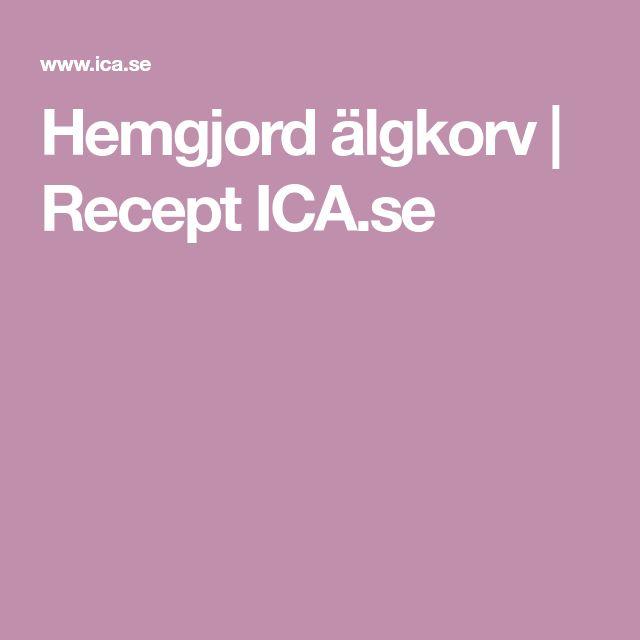 Hemgjord älgkorv | Recept ICA.se