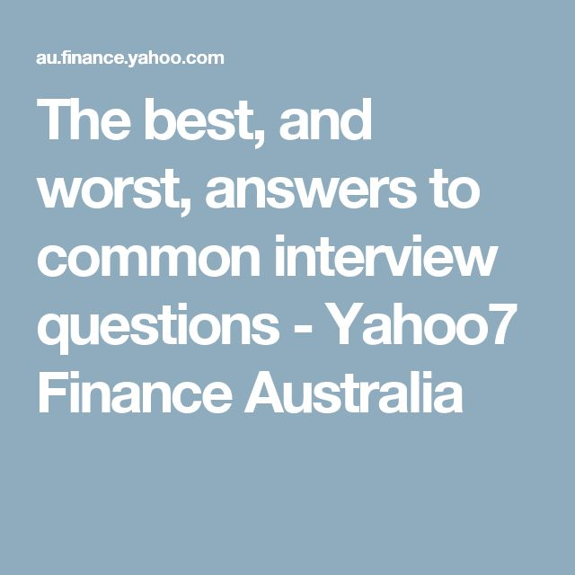 The 25+ best Standard interview questions ideas on Pinterest - how to answer interview questions