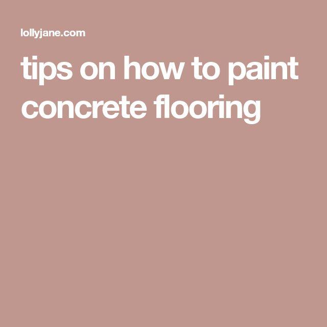 Best 25 Paint Concrete Floors Ideas On Pinterest
