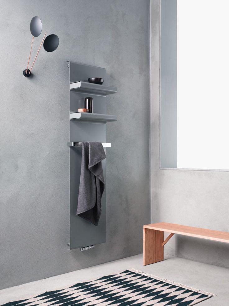 caleido latelier italien de la chaleur vous prsente le radiateur rebel un chauffe serviette au design pur salle de bain en bton cir - Chauffe Serviette Salle De Bain