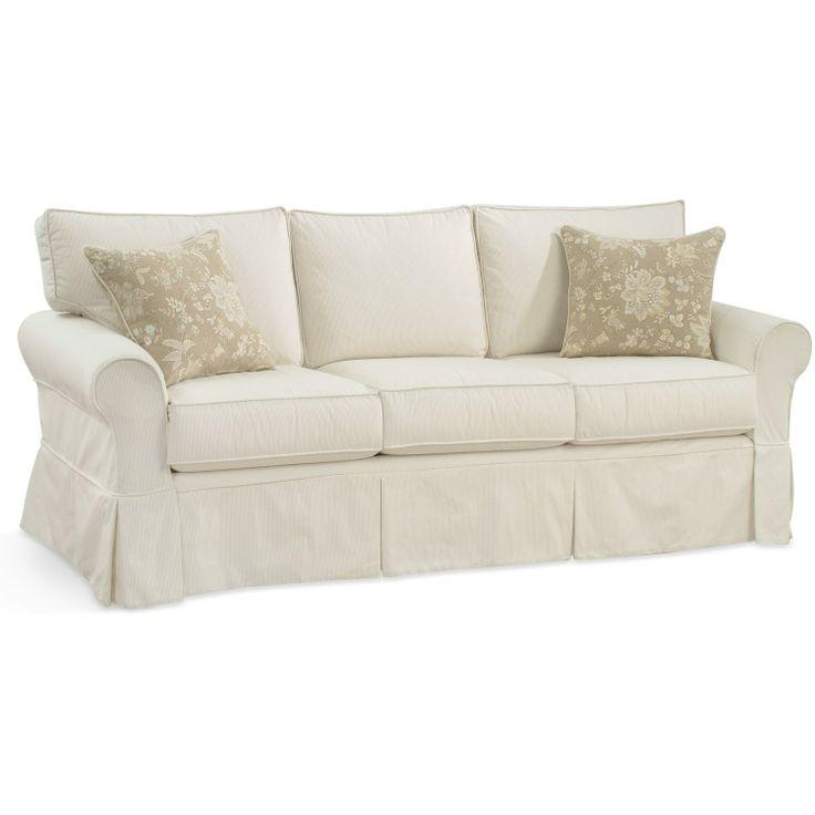 Adele Box Back 3 Seat Slipcovered Sofa Upholstery