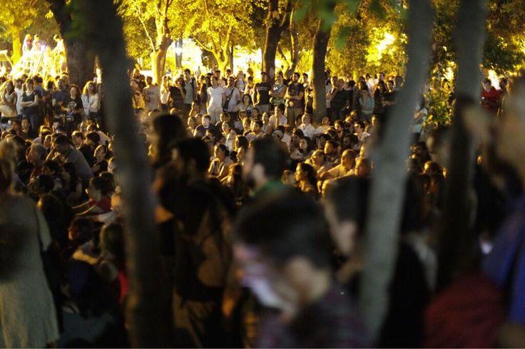 Protesters occupied Yogurtcu Parki in Istanbul, Kadikoy district.
