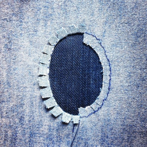 Learn to clip curves for mending holes in clothing