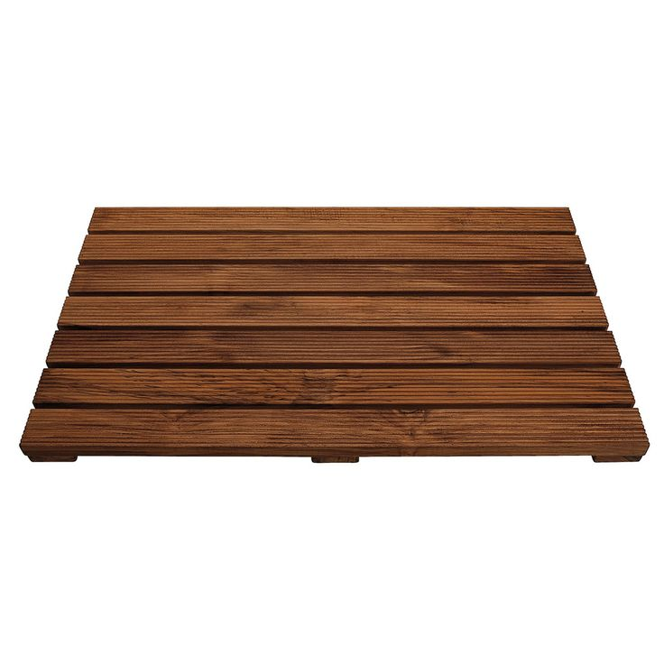 Acacia Wood Non Slip Bath Mat | Overstock.com Shopping   The Best Prices On
