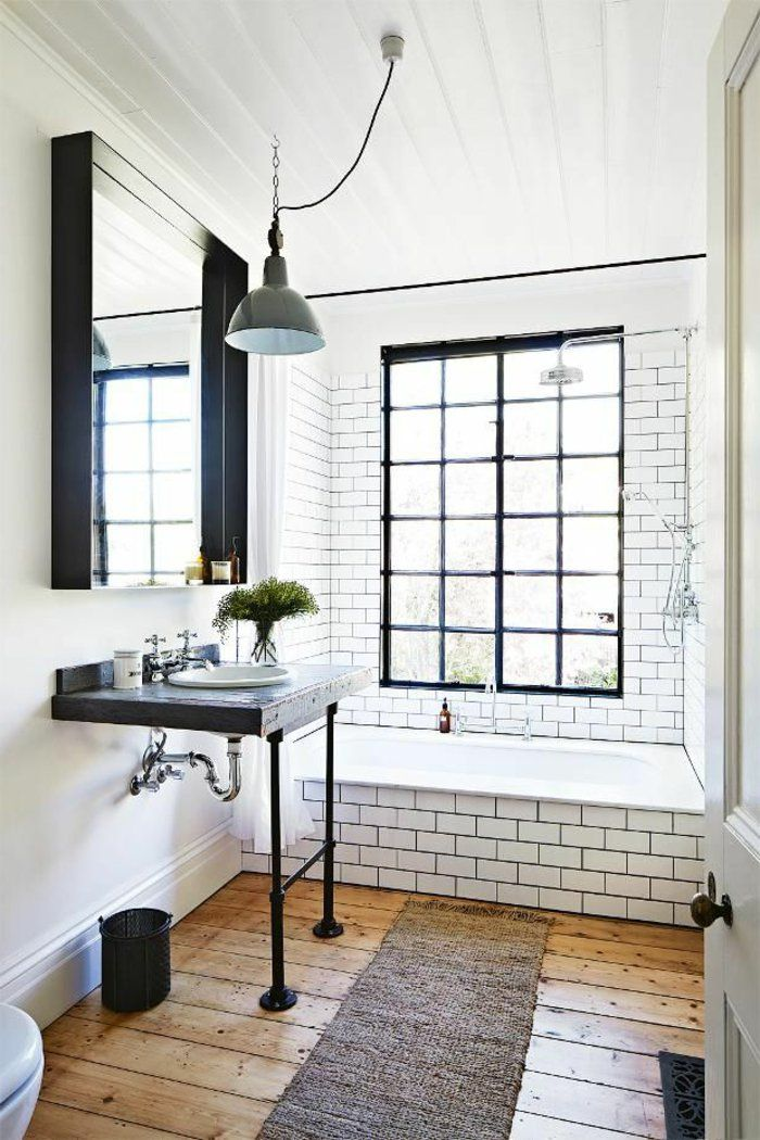 les 25 meilleures id es de la cat gorie salle de bains avec parquet sur pinterest id es de. Black Bedroom Furniture Sets. Home Design Ideas