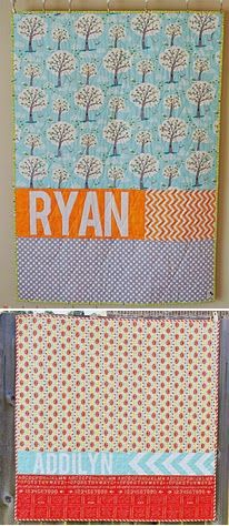 from Pixels to Patchwork: Personalized Quilt Backs: My Process