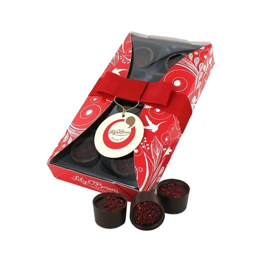 Christmas Favourites - Raspberry Infusion, 8 Chocolates available at LilyOBriens.ie