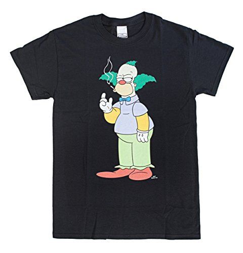 684c1685 The Simpsons Krusty the Clown Smoking T-Shirt | ☆ Krusty the Clown ☆  Simpsons | Krusty the clown, The simpsons, T shirt
