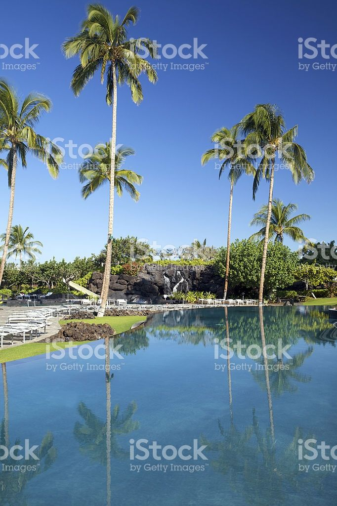 Paesaggio tropicale nella spa resort foto stock royalty-free
