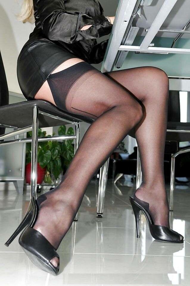 ea0f53faea Pin by Toni on Wearing Stockings Heels   Dresses