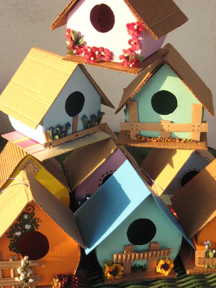Carta e Cuci: Casette per uccellini (solo decorative)