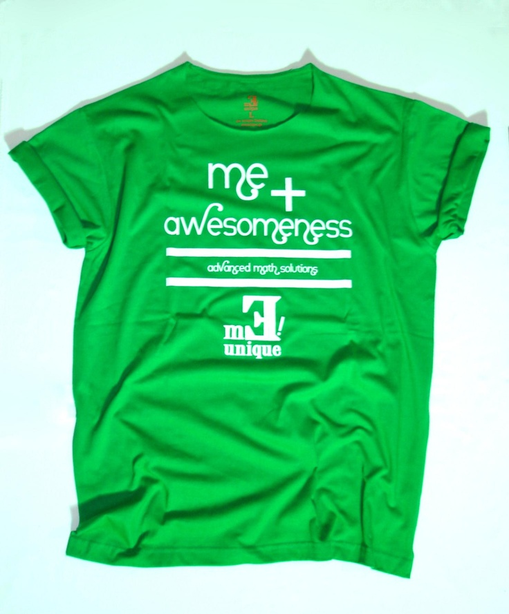 "Me Unique ""awesomeness"" man green t-shirt only on Me Unique Exclusive store www.meunique.gr"