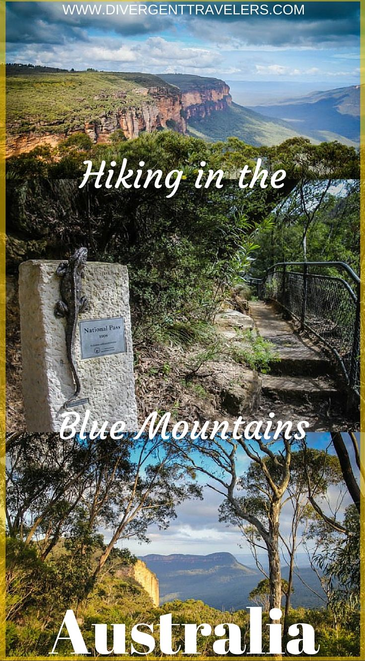 Hiking in the Blue Mountains Australia. This hike rates in the top five hikes in the world. Click to read our adventure travel blog post about Photo Tour of the Blue Mountains, Australia. http://www.divergenttravelers.com/photo-tour-of-the-blue-mountains-australia/