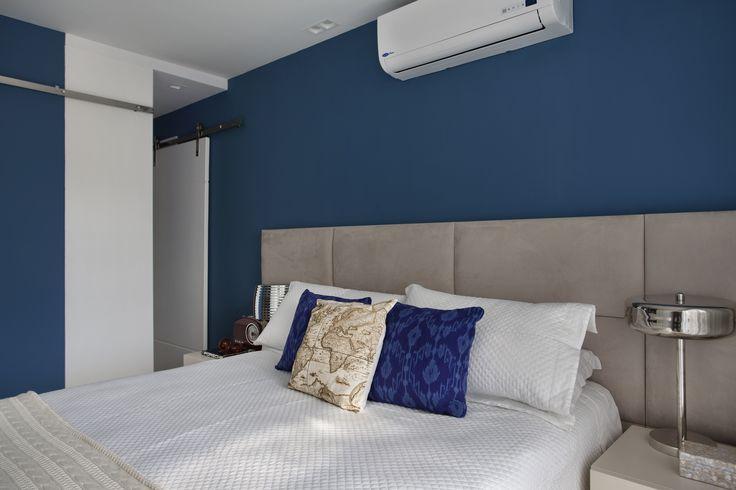 #Bedroom by Mariana Camara arquitetura #bluemood #bluedecor #decor #blue  #decor #decoration #architecture #interni #interiordesign #project #design #decoration #brazilianinterior #braziliandesign