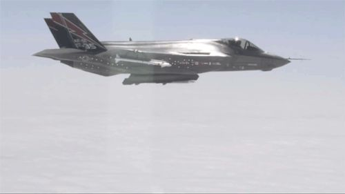 theworldairforce: F-35A First AIM-120 AMRAAM Launch Test