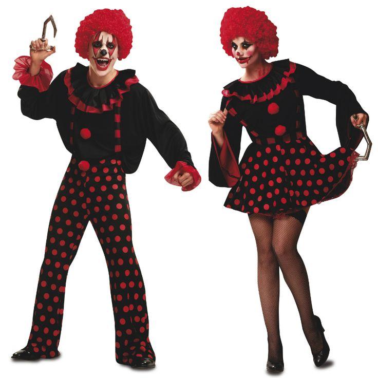 Pareja disfraces payasos asesinos parejas disfraces - Difraces para carnaval ...