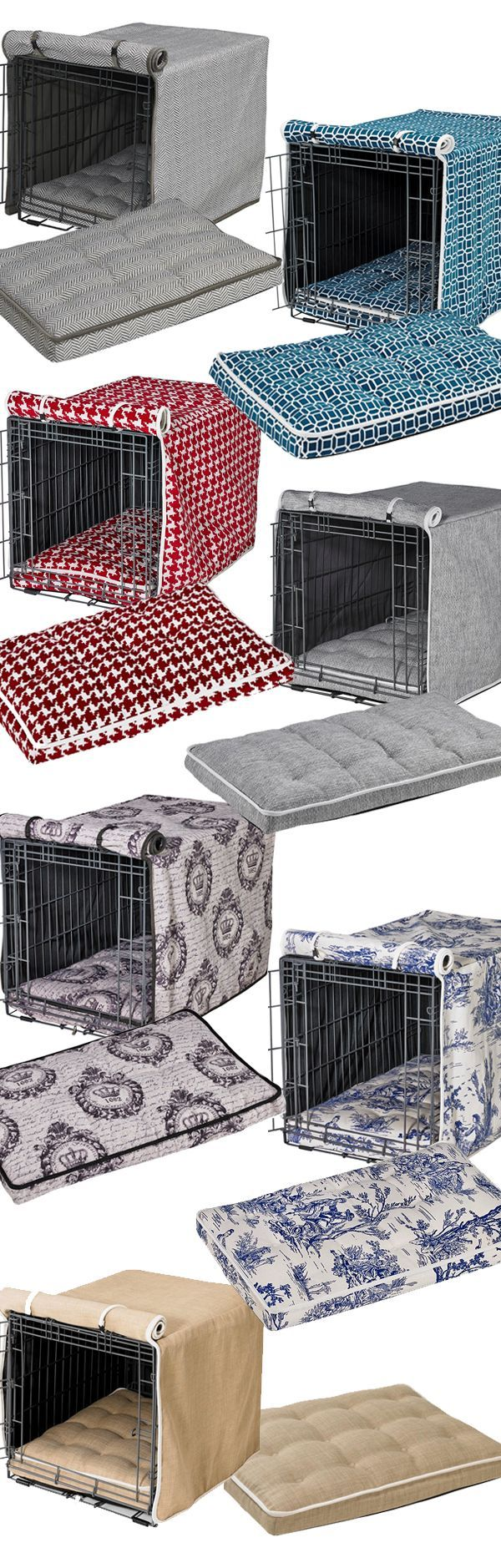 Spruce up your dog's home with our selection of designer crate covers and crate mattresses. Not only offering a refined look, crate covers and mattresses make a wire crate more comfortable and secure for your dog. Great Christmas Gift Idea!