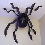 balloon spider- perfect to do this in the hallway at night to scare the crap out of the kids in the am.