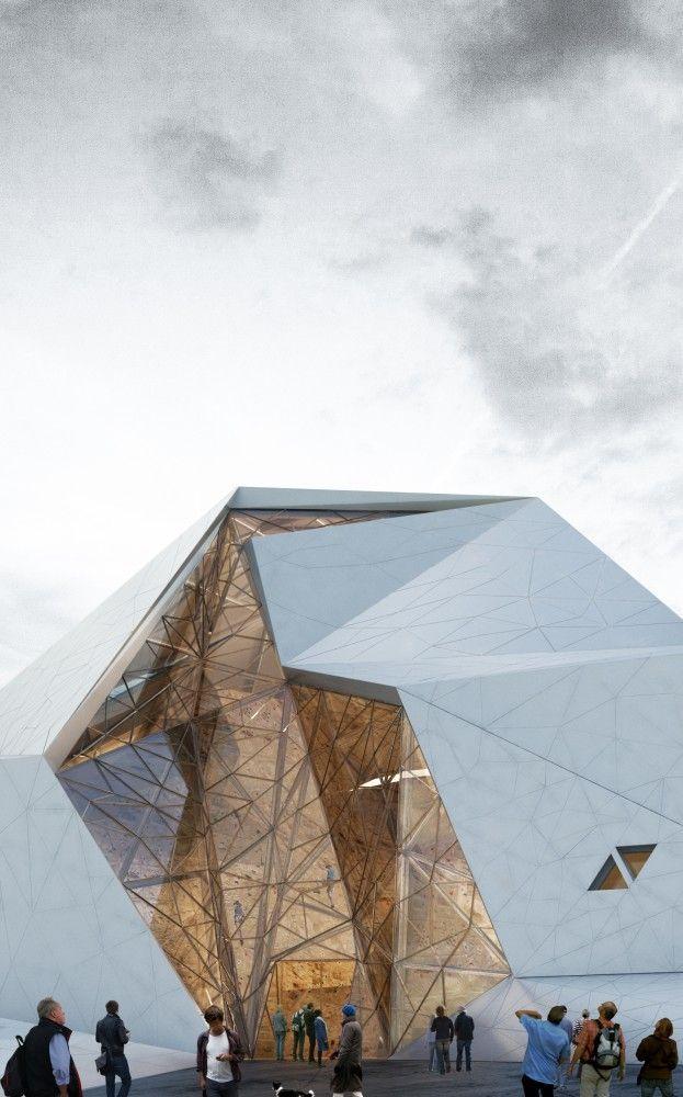 Estructura de vidrio de forma abstracta                                                                                                                                                                                 Más