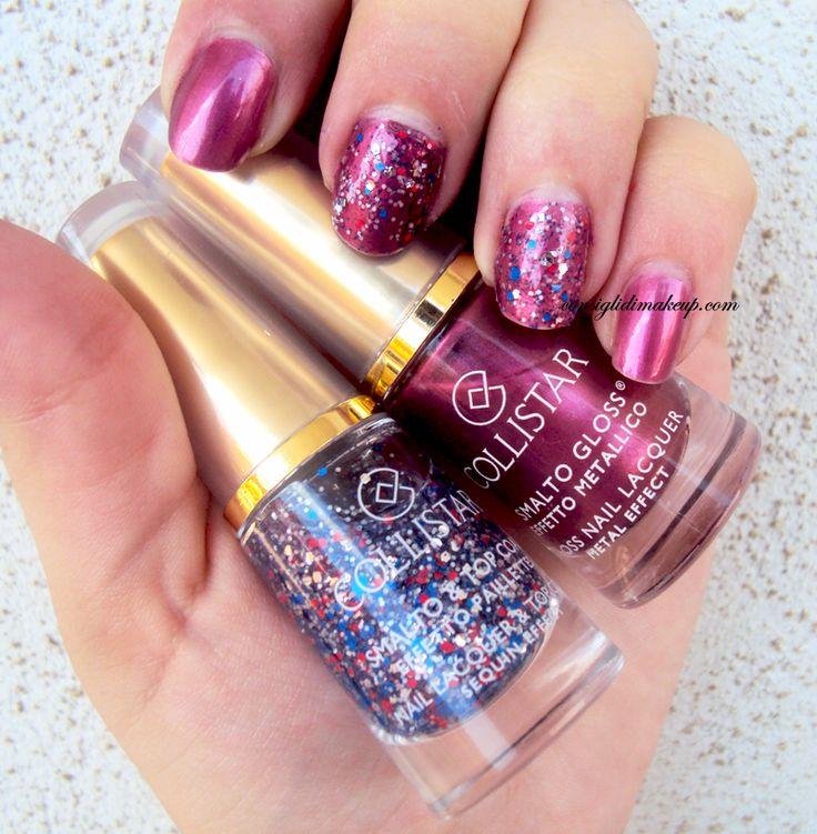 Consigli di Makeup: NOTD: Smalto Gloss Lilla Metallico + Smalto Pailet...