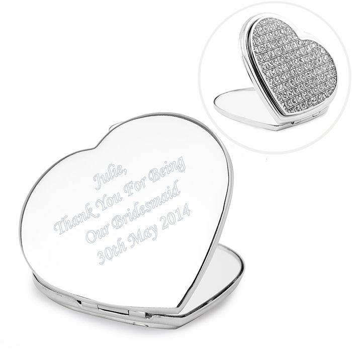 Diamante Heart Compact - Price £18.99 Free UK Delivery