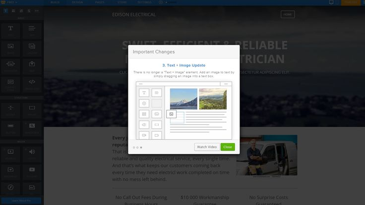 Weebly latest changes UI