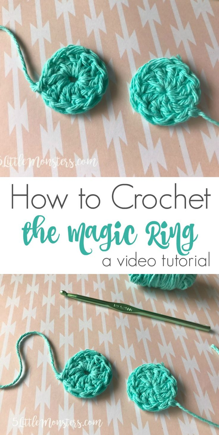how to crochet the magic ring tutorial with video