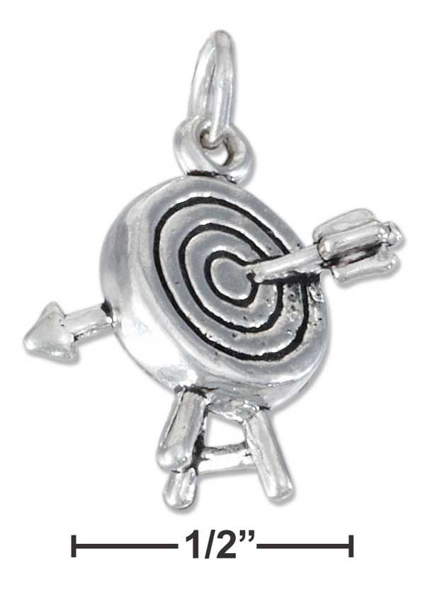 Sterling Silver Arrow And Archery Target Charm