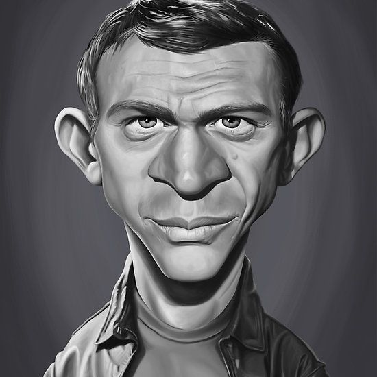 Steve McQueen art | decor | wall art | inspiration | caricature | home decor | idea | humor | gifts