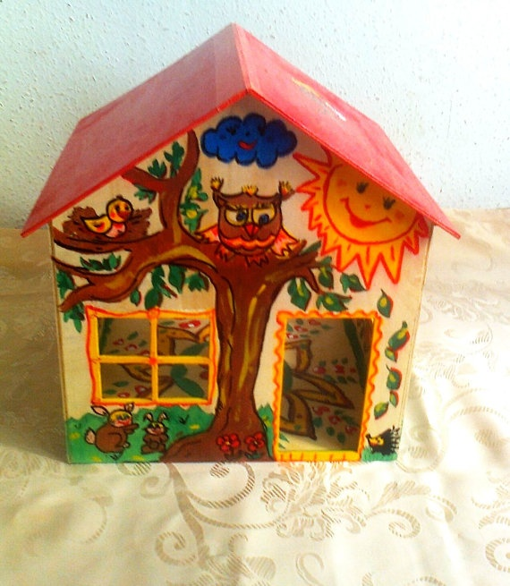 Handmade and handpainted big doll house by paintcrochet on Etsy, Ft12000.00