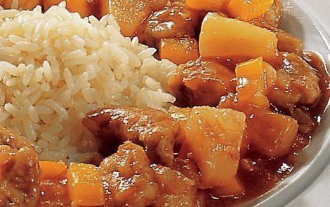 Svinekød i sur-sød sauce. Den klassiske kinesiske sur-søde sauce - herligt. Kan også bruges til fx indbagt kylling og rejer.